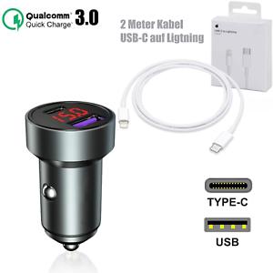 Voiture Chargeur USB-C Voiture Chargeur Adaptateur TypC Apple iPhone 12 par Max Mini