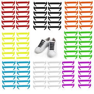 12pcs-No-Tie-Elastic-Shoe-Laces-Silicone-Trainers-Shoes-Adult-Kids-Shoelaces-AU