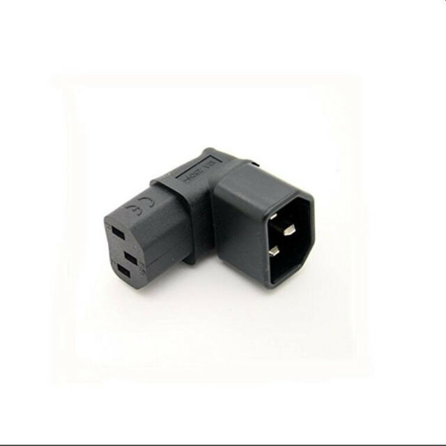 90degree left angle IEC adapter plug IEC 320 C14 to C13 LCD tv wall mounODUS
