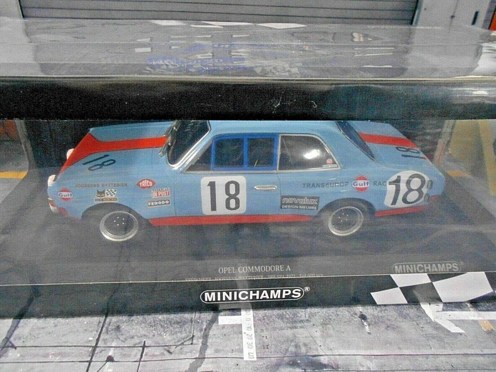 Opel Commodore A Steinmetz Racing 24 H H H SPA 1971 Gulf  18 Joossens MINICHAMPS 1 18 5aab76