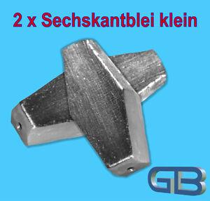 2-x-Sechskantblei-Inliner-20g-30g-40g-50g-60g-Durchlaufblei-Blei-Angelblei