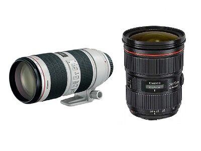 Canon 24-70mm f/2.8L II USM + Canon EF 70-200mm 2.8 L IS II USM  2  Zoom Kit