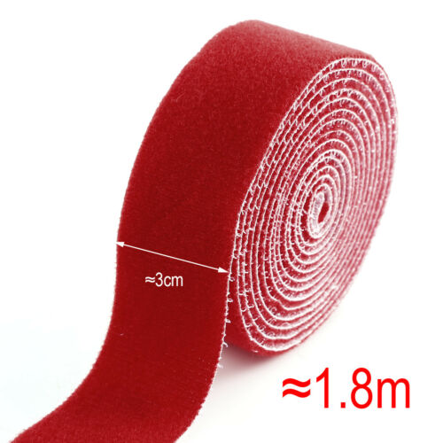 1.8 Meter Klettband Klettverschluss Hakenband /& Flauschband zum Nähen Aufnähen
