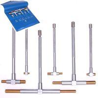 6 Tin Telescoping T Bore Hole Precision Gage Gauge Set on sale