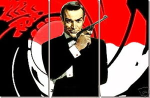 james bond 007 original handgemaltes gem lde xxl 150x100. Black Bedroom Furniture Sets. Home Design Ideas