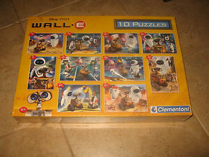 Amazing-rare-Disney-Pixar-Wall-E-10-Puzzles-made-by-Clementoni