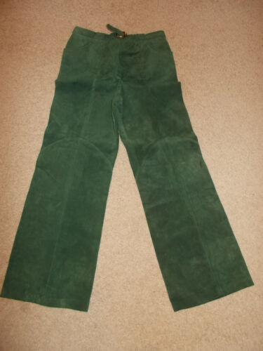 VTG-1970s Gucci Leather Suede Silk Bell Bottoms Bo