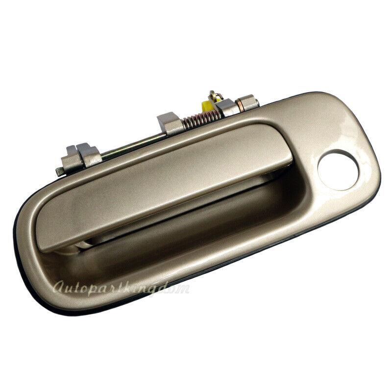 1Pc Door Handle for 92-96 Toyota Camry Beige Exterior Front Left Side