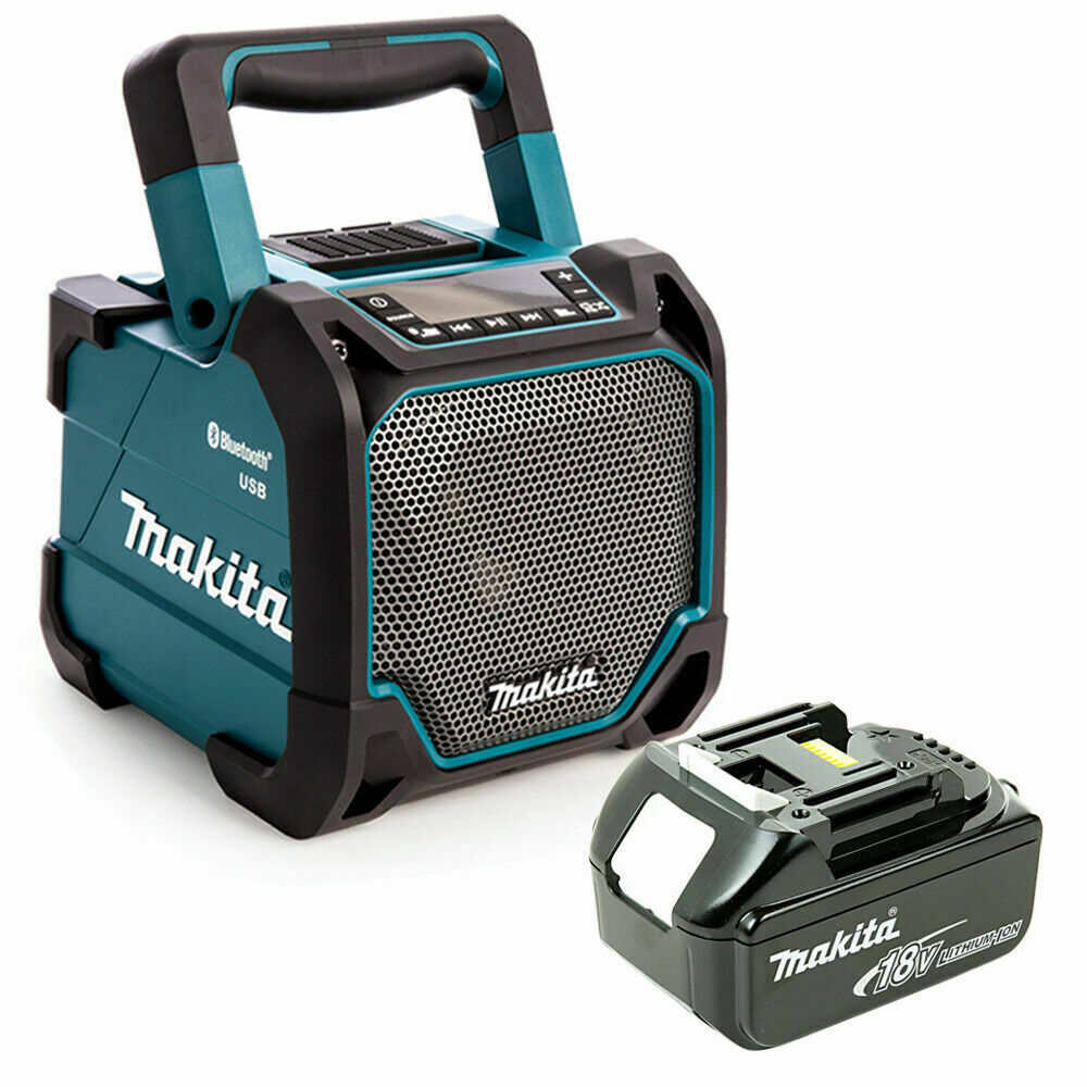 Makita DMR202 10.8-18V CXT LXT Jobsite blueetooth & USB Speaker + 1 x 4Ah Battery