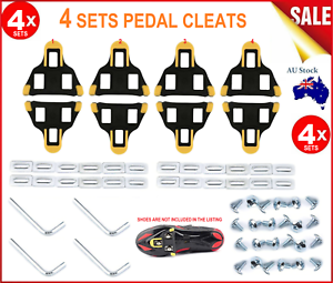 2 PAIR Self-Locking Road Bike Bicycle Pedals Cleats Cycling Sports SH SPD-SL