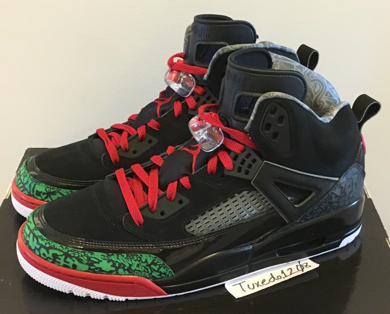 DS Nike Air Jordan Spizike sz10.5 Black Poison Green mars off cactus 315371 026