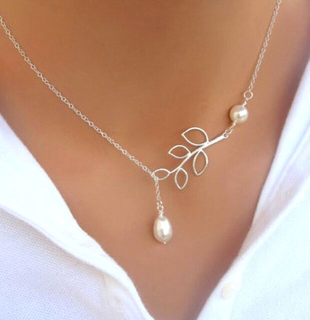 Fashion Jewellery FD4383 Women Silver Plated Cute Bowknot Pendant Necklace Elegant Jewelry Gift☆