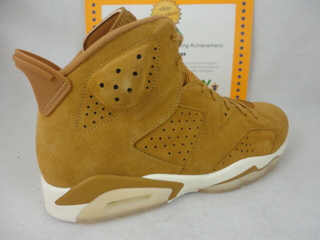 Nike air jordan 6 retrò, golden harvest, camoscio, dimensioni
