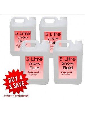 Beautiful 4 X High Quality Snow Fluid 5l Liquid Suitable Most Snow Machine Large Bottle Atmospheric Effects Fluids