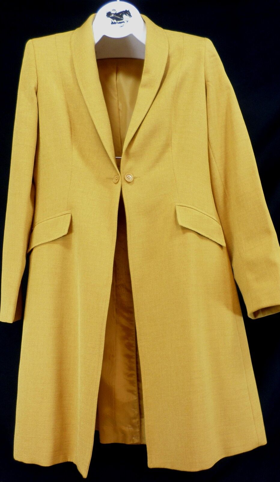 Reed oro Hill Saddleseat Day Coat Burnished oro Reed Polyester Linen Weave size 12 USA 39bef8