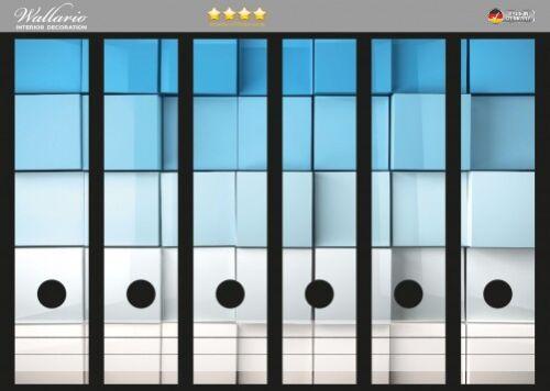 Wallario Ordnerrücken selbstklebend für 6 breite Ordner Kisten Schachteln Muster