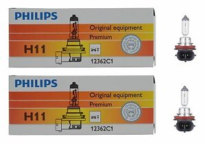 2x-Philips-H11-High-Quality-Vision-12362-Halogen-Light-Bulb-Lamp-Low-High-Beam
