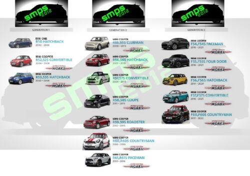 Gen 3 BELTLINE trim Matt Black 2014 Mini F56 F57 ligne de ceinture Kit Cooper S JCW