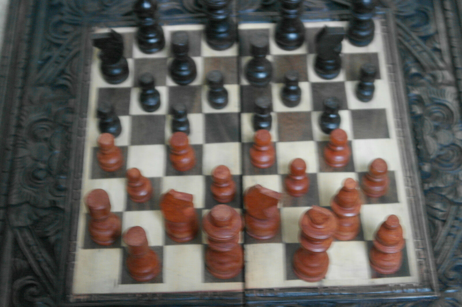 Nice Wooden Chess Board Set Game 16  x 16  Inches Wide
