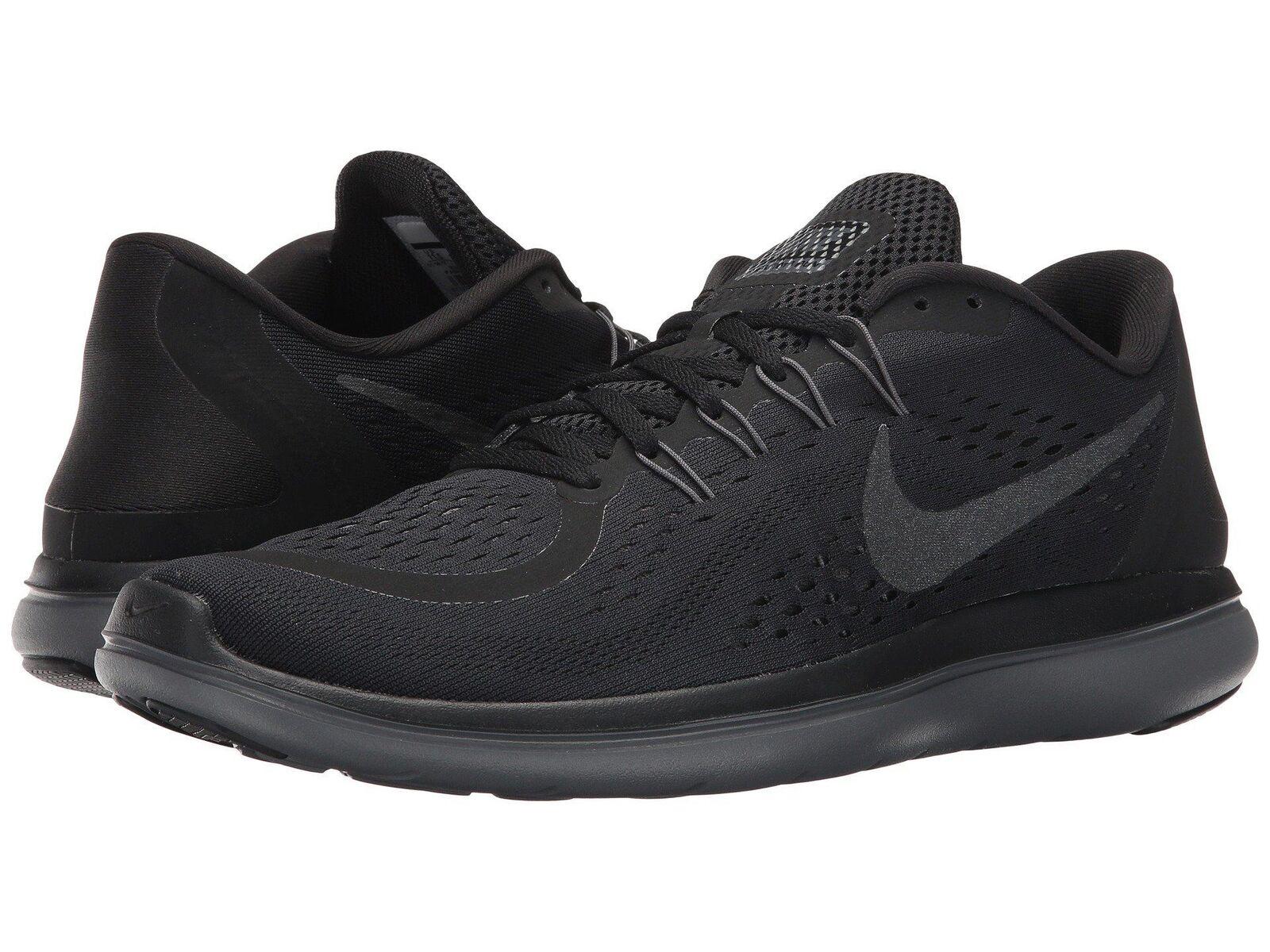 Nike Flex 2018 RN 898457005 Black Dark Gray Men's Running Shoes