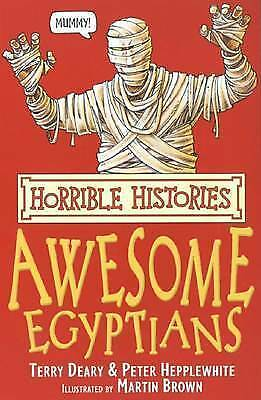 1 of 1 - The Awesome Egyptians by Terry Deary, Peter Hepplewhite-9780439944038-G025