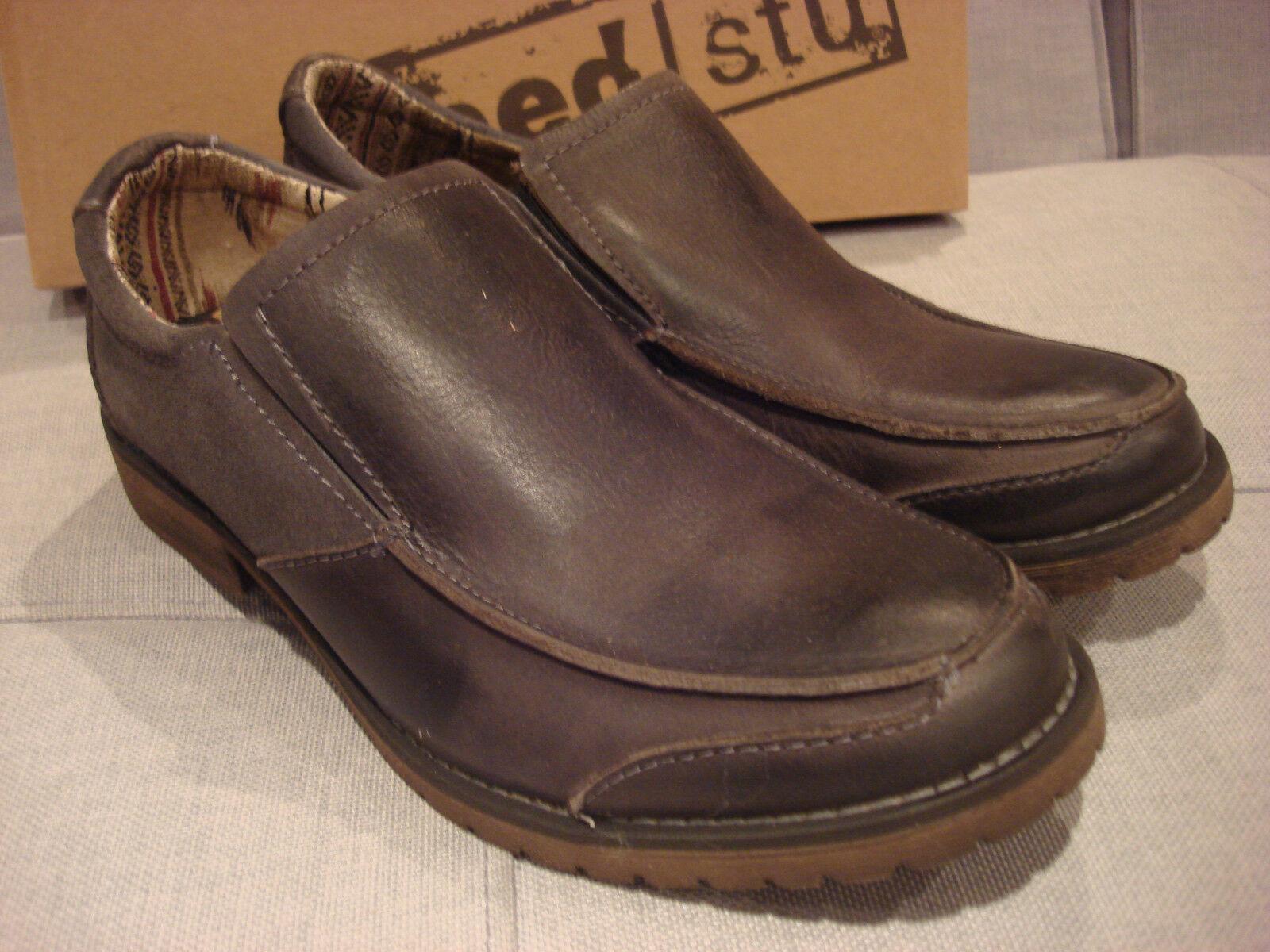 BED STU hommes FILLMORE 420211 noir vertLAND CHAR gris chaussures Taille 11 - NEW