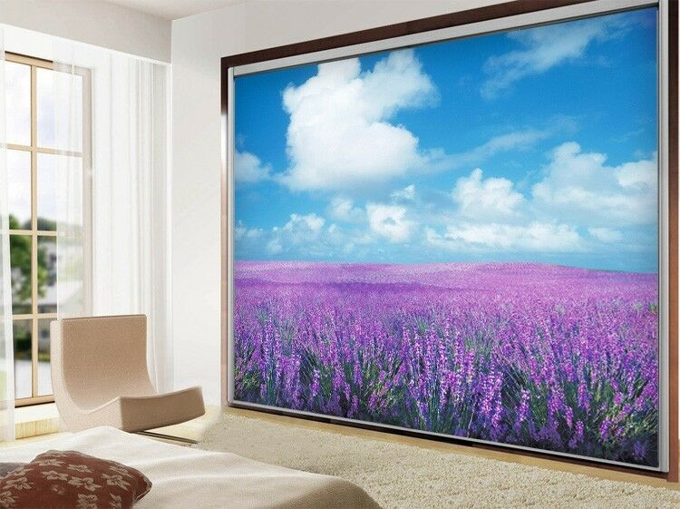 3D lila lavender 813 WallPaper Murals Wall Print Decal Wall Deco AJ WALLPAPER