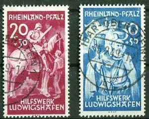 Franzoesische-Zone-Rheinland-Pfalz-30-31-sauber-gestempelt-Idar-Oberstein-used