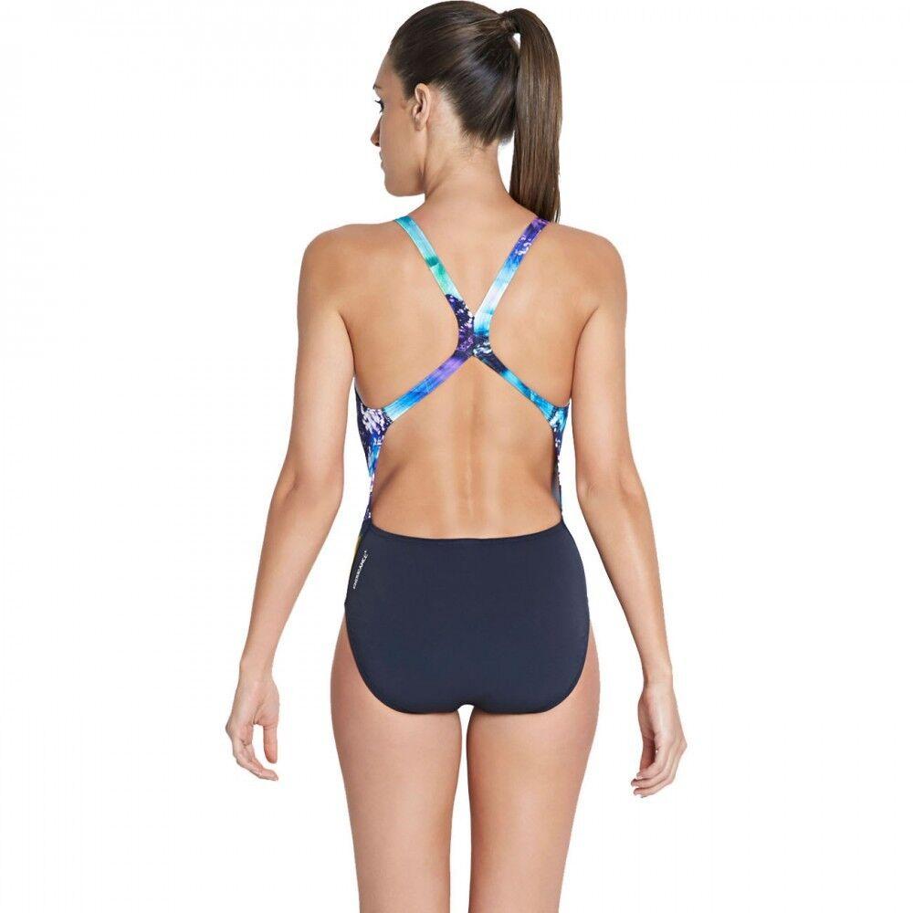 Speedo Allover Digital Print Print Print Damen Badeanzug Schwimmanzug | Queensland  | Adoptieren  | Merkwürdige Form  31549b