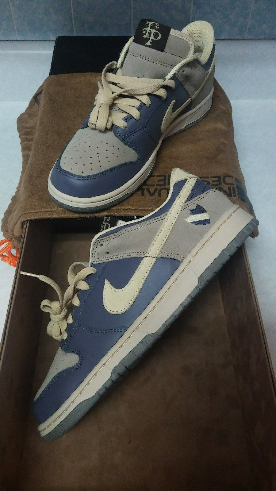NIKE DUNK ID 10.5 FLAMENGO PARK ULTRA RARE COLLECTORS   CLASSY blueE  COOL GREY