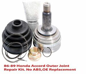 Cv Axle Repair >> Details About 86 89 Accord Cv Axle Outer Joint Repair Kit 1joint 1nut 1boot 2clamps 1grease