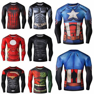 100% Wahr Mens Marvel Compression Armour Base Layer Gym Top Superhero Cycling T-shirt Fit Weich Und Rutschhemmend