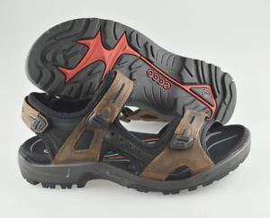 Men's ECCO 'Yucatan' Brown Leather textile Sandals Size US 10
