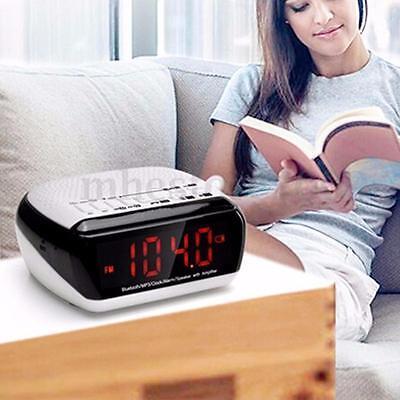 Wireless Bluetooth LED Digital Speaker MP3 Player Alarm Clock FM Radio Decor