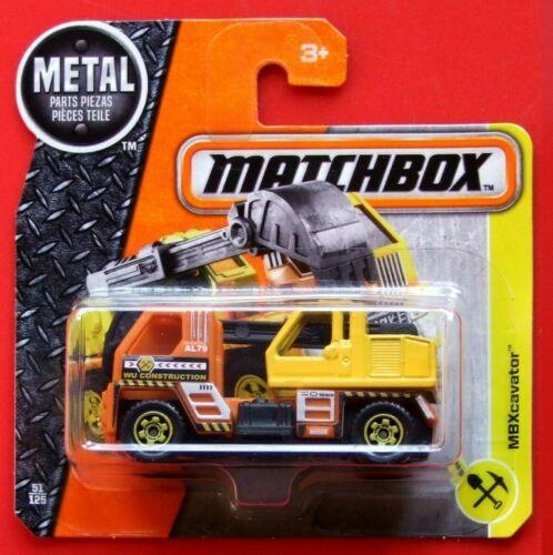 MATCHBOX 2016   MBX CAVATOR    51//125   NEU/&OVP
