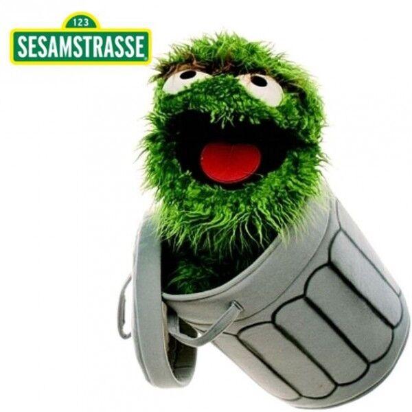 Oscar the Grouch   Hand Puppet   Sesame Street   65 cm   Plush   Soft Toy
