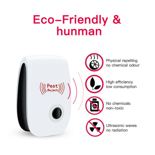 Ultrasonic Pest Reject Magnetic Repeller Anti Mosquito Mouse Insect Killer US