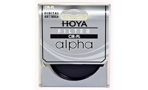 Hoya 62mm ALPHA Circular Polarizer CPL CRPL Cir-PL Glass Filter - Brand New
