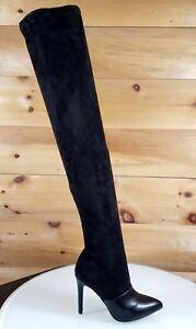 Mac J Nude Snake Pointy Toe High Heel Thigh High Boots 7-11