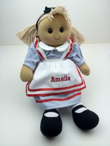 Great Gift Personalised Handmade Rag Doll With /'Alice/' Design 40cm