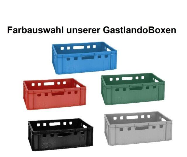 5 Stapelkiste Lagerkiste Kiste Box Spielzeugkiste E2 grau 60x40 cm neu Gastlando