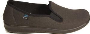 Flyflot-tercera-edad-casa-zapatos-negro-textil-Slipper-apretamos-nuevo