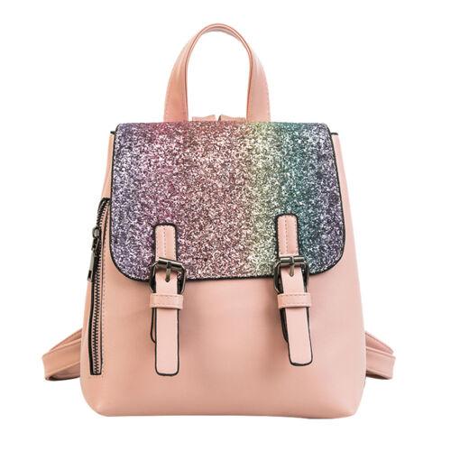 Womens Bling Sequins Fashion Backpack Travel Rucksack School Shouder Bag Satchel