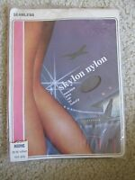 Vintage Skylon Nylon Hosiery Women's Stockings Size 10.5 Shadow Length 32-33