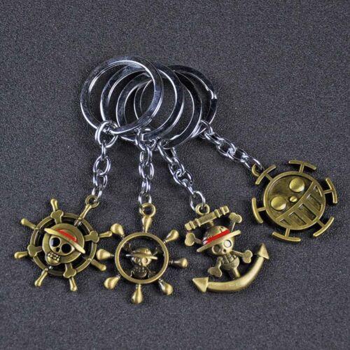 One Piece Monkey D Luffy Trafalgar Law Design Logo Key Chains Keychain Keyring