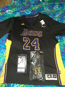 Details about New Lakers Kobe Bryant Jersey mens size XXL PLUS game ticket stub & socks Lot