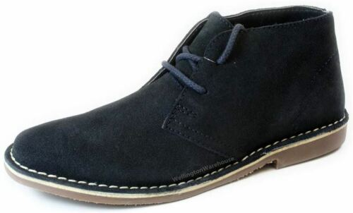 Gobi Up Boots Navy Red Desert Suede Lace Mens Tape S51qwnBI