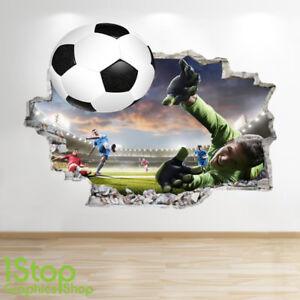 b434dffc Details about FOOTBALL STADIUM WALL STICKER 3D LOOK - BOYS KIDS BEDROOM  WALL DECAL Z569