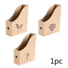 Office Desk File Magazine Holder Kraft Paper Document Storage Box Organizer Rack