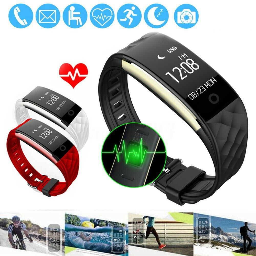 S2 Bluetooth Smart Bracelet Heart Rate Monitor Sport Fitness Tracker        9 bluetooth bracelet fitness heart monitor rate smart sport